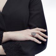Anello Cocktail con diamanti grey