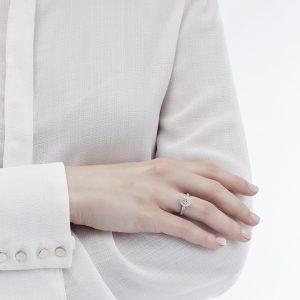 Anello Mirella con Diamante 0,70